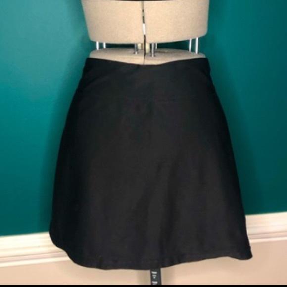 Black on black Nike tennis golf skirt with spandex